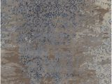 Blue and Brown Bath Rugs Rupec Collection Hand Tufted area Rug In Grey Blue & Brown