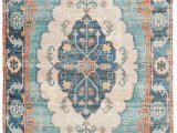Blue and Coral area Rug Saffron Blue Coral area Rug In 2020
