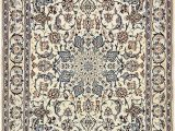Blue and Cream oriental Rug Cream 4 4 X 7 Nain Persian Rug Persian Rugs