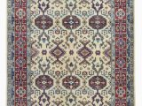 Blue and Cream oriental Rug Kazak oriental area Rug 5 X6 10