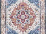 Blue and Cream oriental Rug Rigmar oriental Blue Beige Cream area Rug