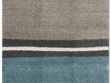 Blue and Cream Striped Rug Maroq area Rug – 5 X 8