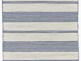 Blue and Cream Striped Rug Robie Blue Cream area Rug