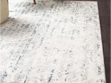 Blue and Gray Abstract Rug Farah Distressed Contemporary Rug White Blue Grey