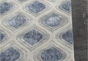 Blue and Gray Bathroom Rugs Clara Collection Hand Tufted area Rug In Blue Grey