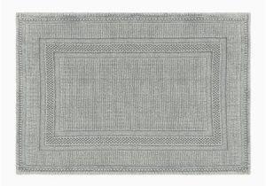 Blue and Gray Bathroom Rugs Jean Pierre Cotton Stonewash Racetrack 17×24 In Bath Rug