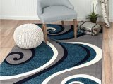 Blue and Gray Throw Rugs Summit New 32 Swirl Blue Navy White Light Gray area Rug Abstract Carpet Sizes Available 8 X 11 Actaul is 7 4 X 10 6