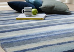 Blue and Gray Wool Rug Review Ultimate Stripe 01 Blue Grey Wool Rug by