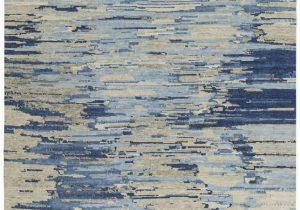 Blue and Gray Wool Rug Tibetan Vibrations Blue Gray Wool Rug