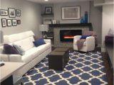 Blue and Grey Living Room Rugs Cambridge Lattice Navy Blue & Ivory area Rug arearugs