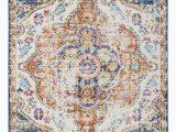 Blue and orange oriental Rug Bungalow Rose Vedika oriental Multicolor area Rug & Reviews