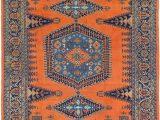 Blue and orange oriental Rug orange 8 5 X 11 4 Viss Persian Rug