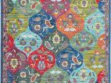 Blue and orange oriental Rug oriental Weavers Joli 9648s area Rugs