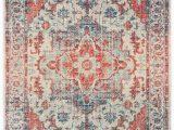 Blue and orange oriental Rug oriental Weavers Pandora 070w7 Blue orange area Rug