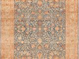 Blue and Rust Rug Room Size Blue and Rust Persian Khorassan Rug 49634 Nazmiyal