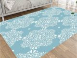 Blue and White area Rugs 5×7 asdecmoly Washable area Rug Colorful area Rug Light Blue