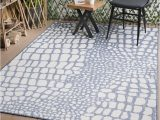 Blue and White area Rugs 5×7 Indoor Outdoor Pebbles area Rug 5×7 Blue White