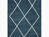 Blue and White area Rugs 5×7 Vienna 5×7 Geometric Shaggy area Rug G2927 In Blue White