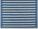 Blue and White Aztec Rug Blue and White Striped southwest Flatweave Rug Erin Gates Thompson
