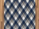 Blue and White Check Rug Amazon Ambesonne Navy area Rug Abstract Checkered