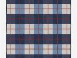 Blue and White Check Rug Buffalo Plaid Red & Blue Washable Rug