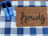 Blue and White Check Rug Layered Front Door Mat Trend Buffalo Check Rug is All You Need