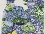 Blue and White Chinoiserie Rug Chinoiserie Blue and White Hydrangeas Print Etsy