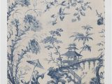 Blue and White Chinoiserie Rug Chinoiserie