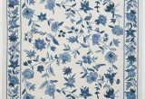 Blue and White Chinoiserie Rug Colonial 1727 1500—2250