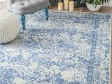 Blue and White Chinoiserie Rug Grady Light Blue area Rug