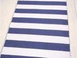 Blue and White Cotton Rug Blue and White Striped Cotton Rug 2 6 X 5