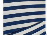 Blue and White Cotton Rug Dii Reversible Indoor Woven Striped Outdoor Rug 4×6 White & Navy