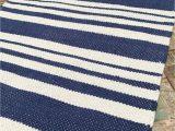 Blue and White Cotton Rug Fair Trade Beach Style White Stripe Cotton Rug Green Grey