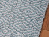 Blue and White Cotton Rug Savannah Eco Cotton Rug Light Blue and White Hook & Loom