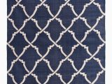 Blue and White Dhurrie Rug Heera Navy Blue & White Dhurrie Rug Mahout Lifestyle