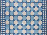 Blue and White Dhurrie Rug Indian Dhurrie N by Doris Leslie Blau