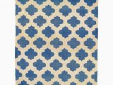 Blue and White Dhurrie Rug Jali Ink Blue and White Wool & Cotton Dhurrie Rug Mahout Lifestyle