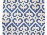 Blue and White Dhurrie Rug Phool Royal Blue and White Dhurrie Rug Mahout Lifestyle
