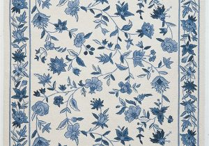 Blue and White Floral Rug Colonial 1727 1500—2250