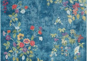 Blue and White Floral Rug Surya Aura Silk ask 2334 area Rugs