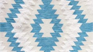 Blue and White Kilim Rug nora White and Blue Kilim Rugs by Meem In Rugs