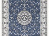 Blue and White Modern Rug Palais Alina Mosopotamian Blue White Rug