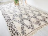 Blue and White Moroccan Rug aspen Vintage Moroccan Rug