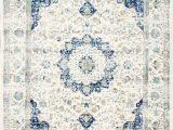 Blue and White Patterned Rug Blue area Rugs