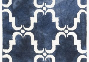 Blue and White Patterned Rug Monroe Hand Tufted Wool Navy Blue Light Blue White area Rug