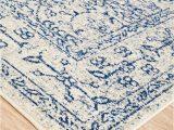 Blue and White Rug Runner Blue Rug Addiction
