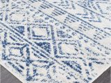 Blue and White Rug Runner Oasis ismail White Blue Rustic Runner Rug – Instyle Rugs and