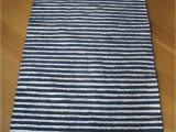 Blue and White Rug Runner Striped Blue and White Rug Navy Blue Stripes Scandinavian