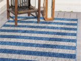 Blue and White Striped Rug 8×10 9 X 12 Outdoor Striped Rug