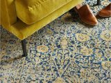 Blue and Yellow Throw Rugs Aysel Rug
